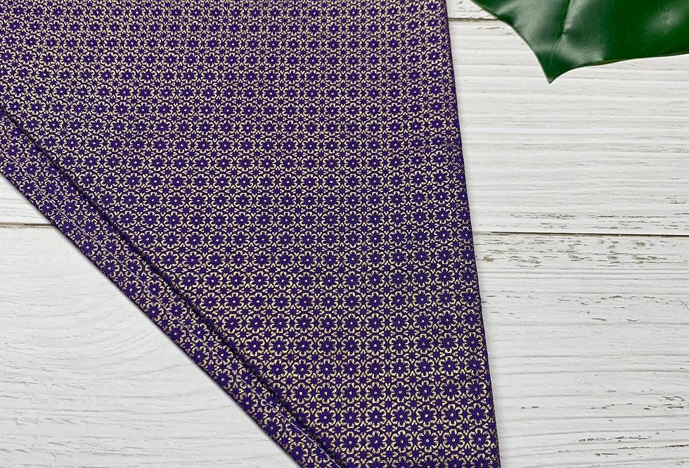 Purple Fursuit Bandana with yellow fringe
