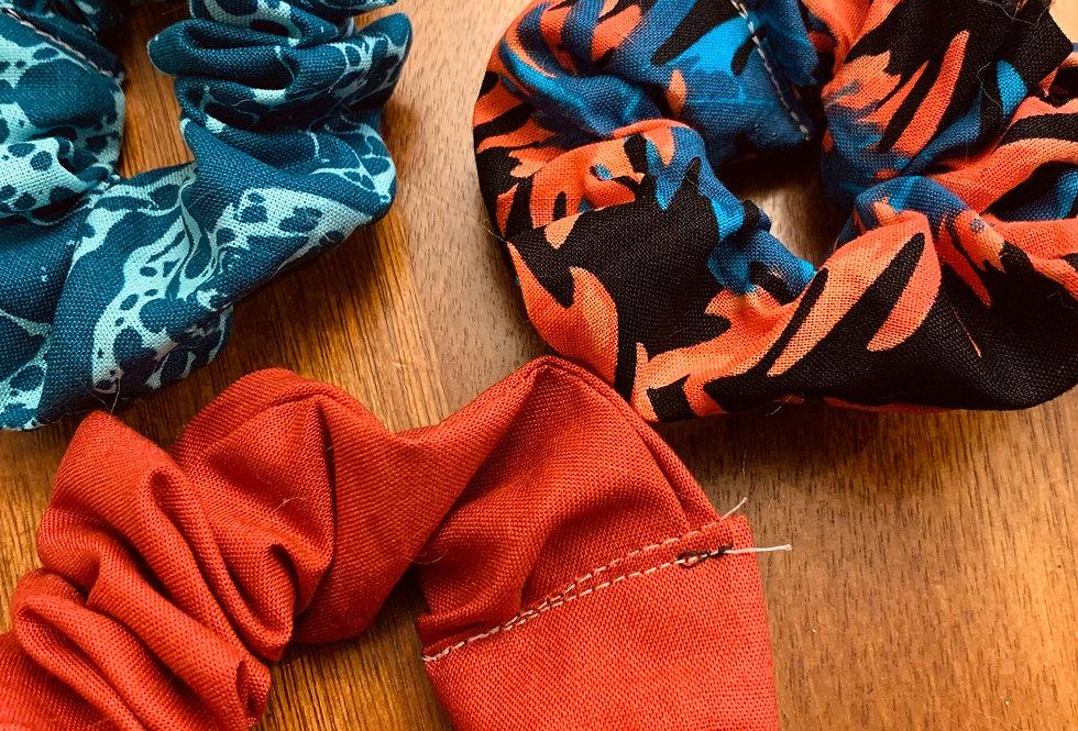 Tropical Handmade Scrunchies