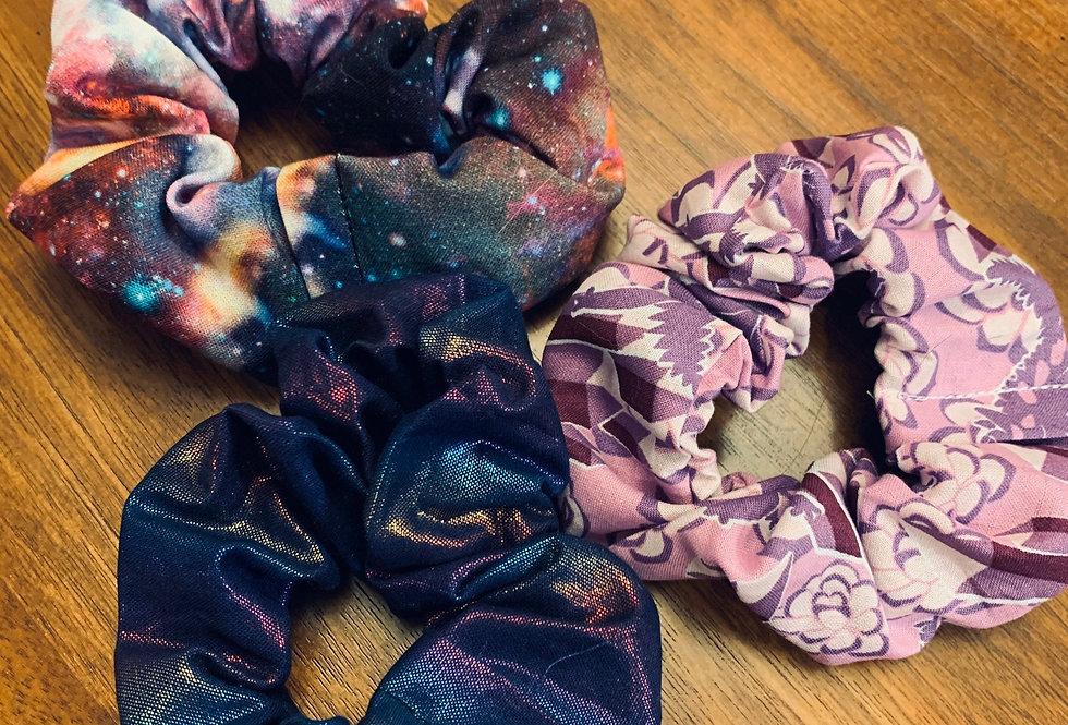 Holographic Scrunchie, Iridescent Metallic Scrunchie