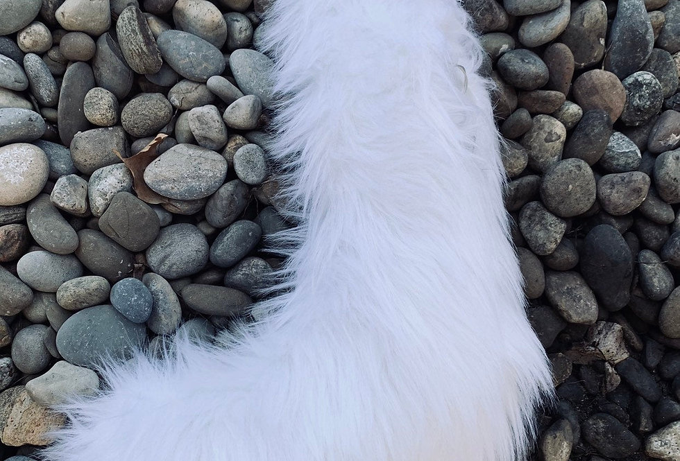 White Wolf Fursuit Tail