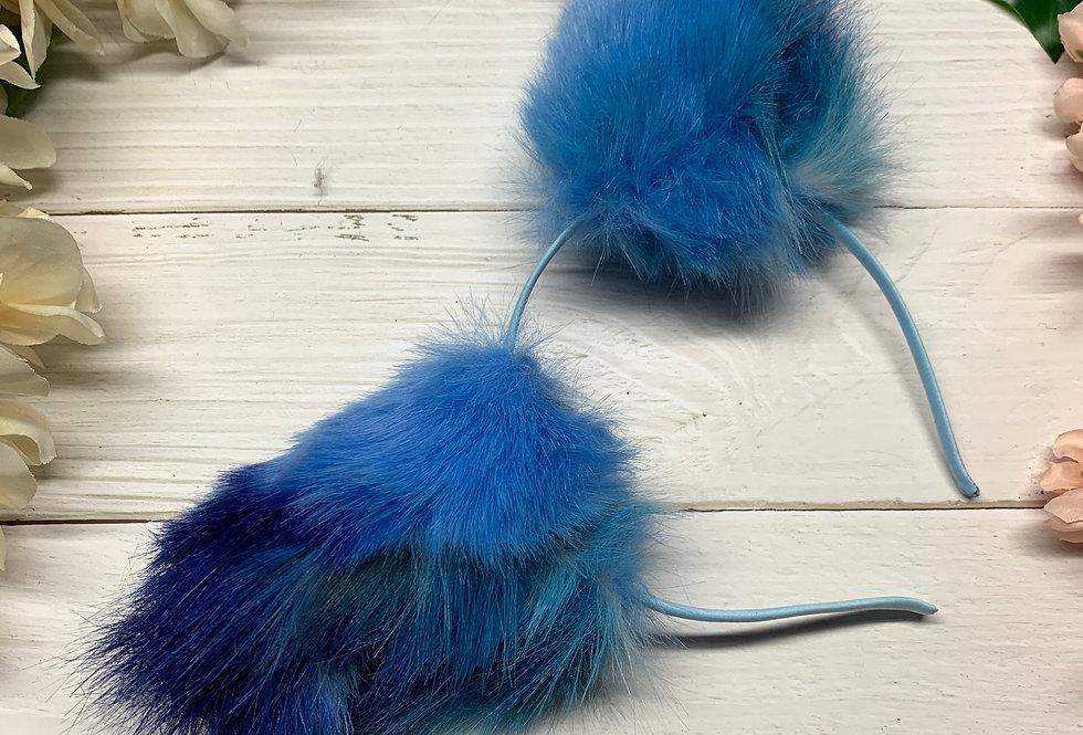 Cerulean Blue Wolf Ears