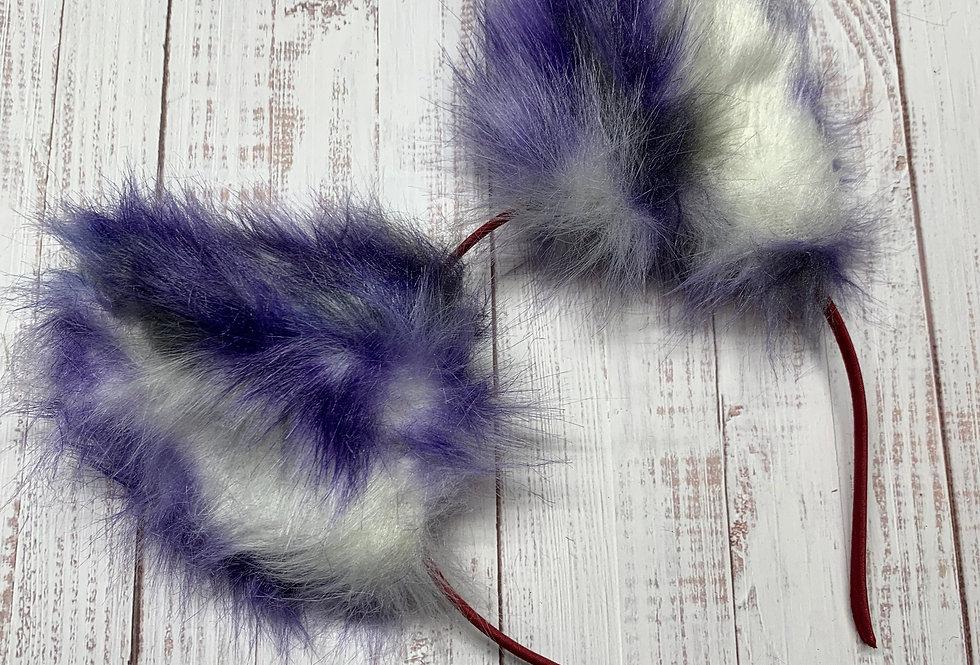 Realistic Purple Kitten Ears
