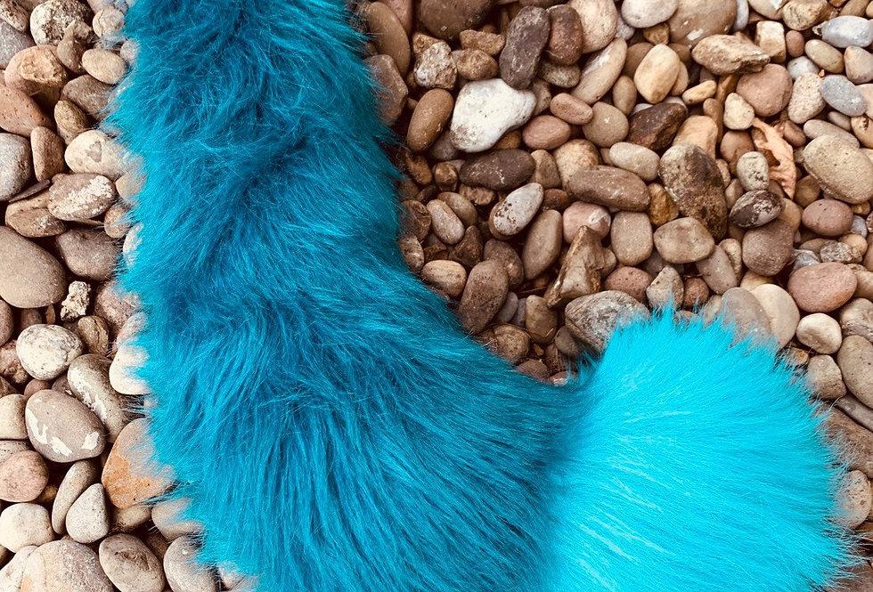 Aqua Blue Fox Tail