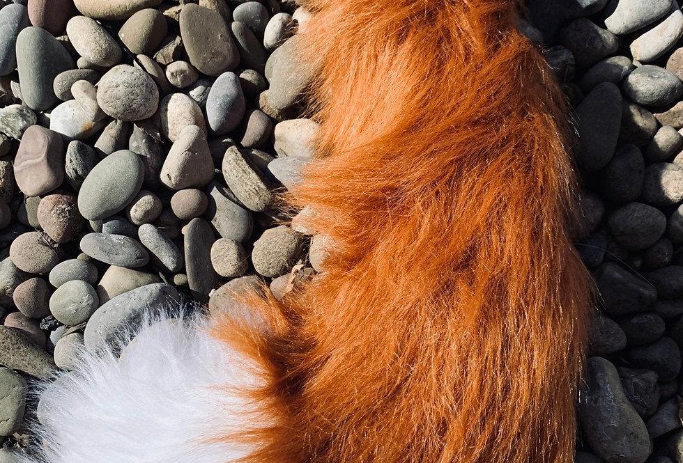 Realistic Medium Red Fox Tail