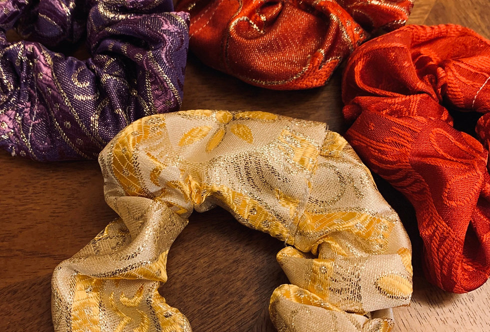 Liturgical Brocade Scrunchie Hair Ties