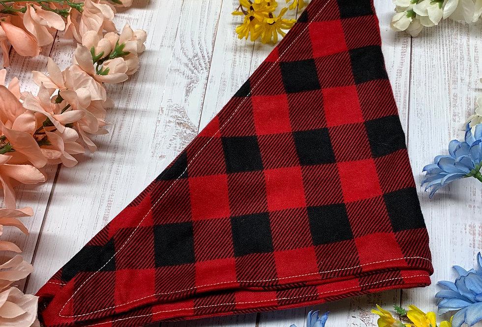 Red and Black Gingham Plaid Fursuit Bandana