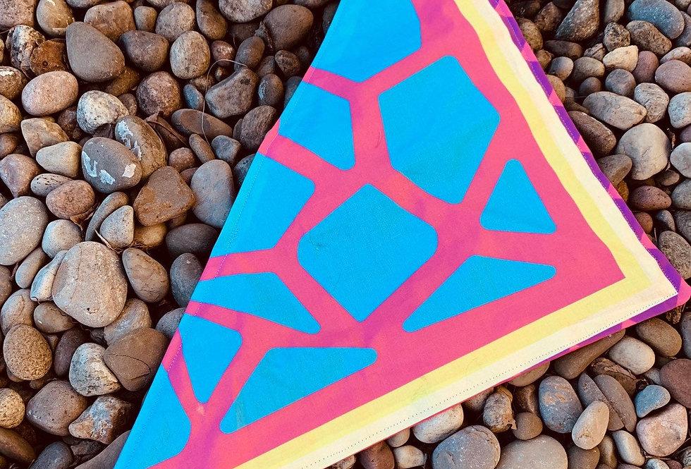 Pink Dinosaur Scale Fursuit Bandana, Fursuit Acessories