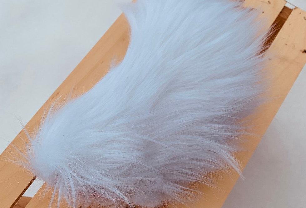 Small White Fursuit Nub Tail