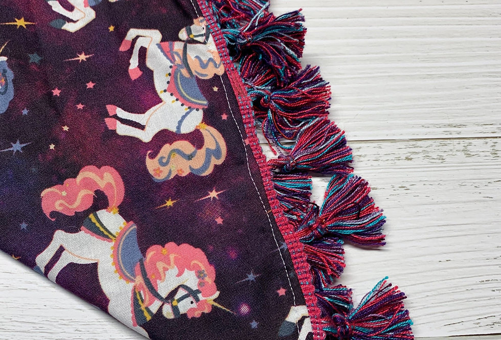 Space Unicorn Fursuit Bandana with fringe, Fursuit accessories