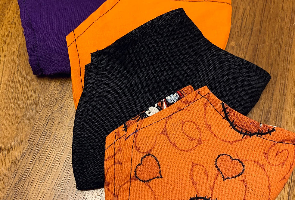 Halloween Face Mask With Filter Pocket and Nose Wire, Washable Cotton Face Mask