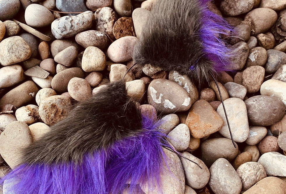 Purple and Gray Wolf Ears