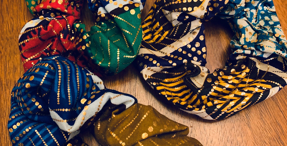 African Wax Scrunchies