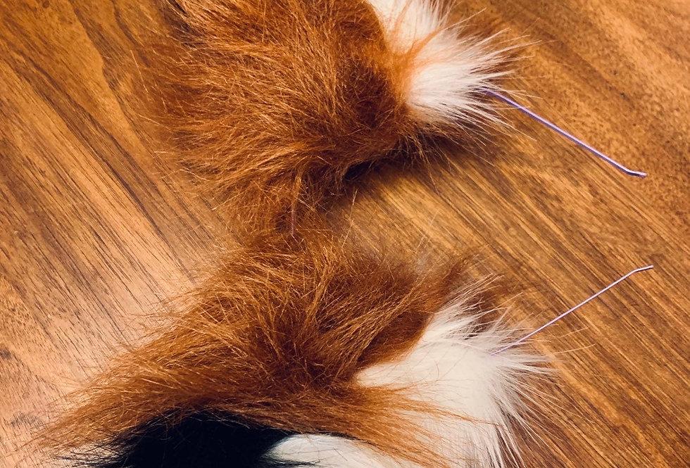 Fluffy Red Fox Ears