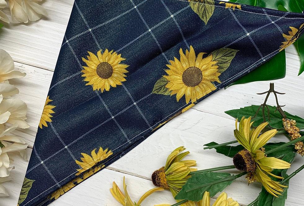 Golden Sunflower Fursuit Bandana, Fursuit Accessories