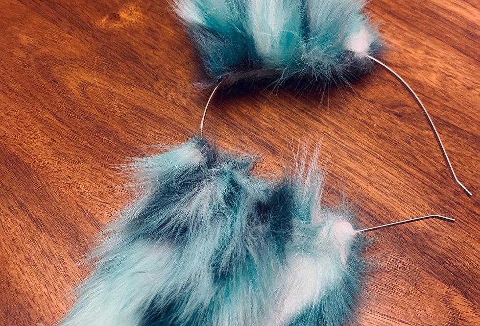 Big Blue Ocean Mint Cat Ears