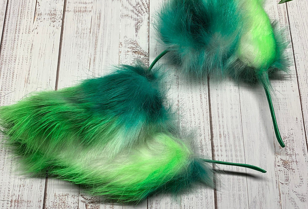 Blue & Green Alien Cat Ears