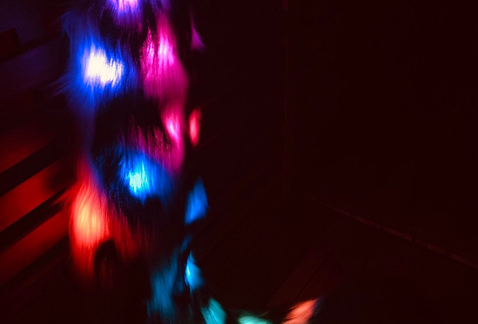 Custom Commission Glowing Leopard Led Fursuit Tail with Programable Pixel leds