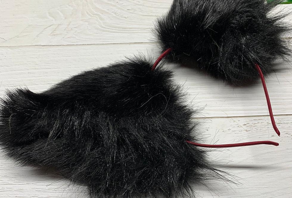 Sleek Black Kitten Ears