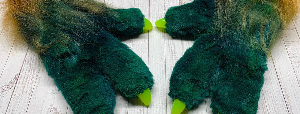 Custom Fursuit Paws, 3 finger Paws with Resin Claws, Open for Custom Commissions