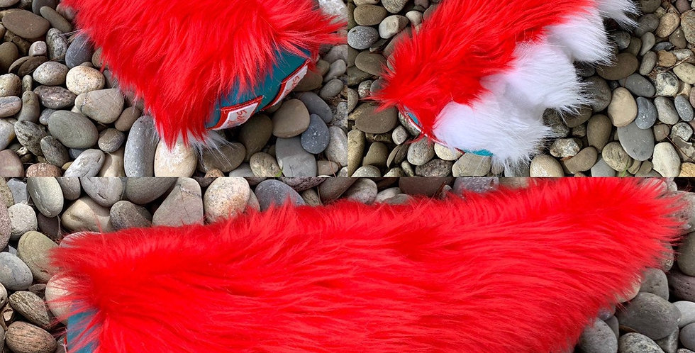 Red and White Dragon Fursuit Tail