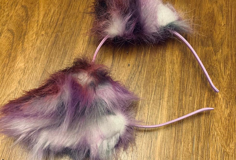 Realistic Plum Purple Kitten Ears