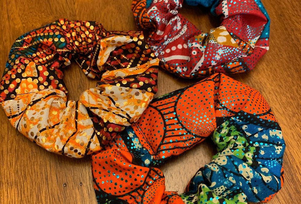 African Wax Scrunchies
