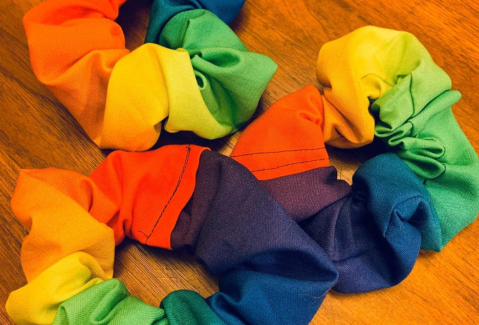 Rainbow Pride Handmade Scrunchie