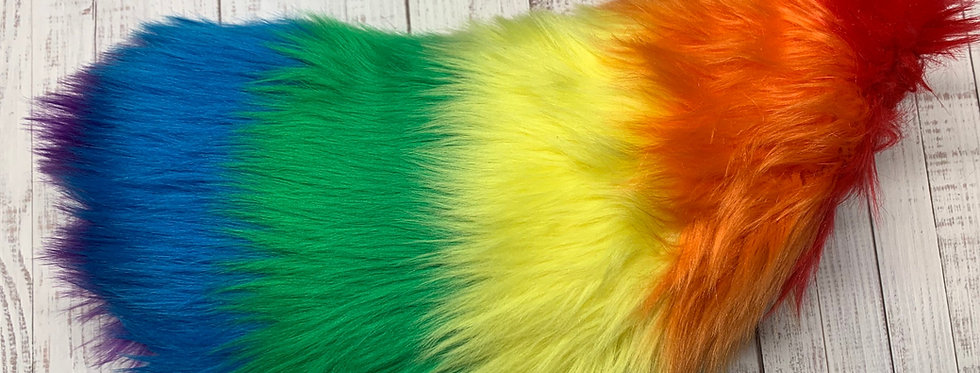 Rainbow Fursuit Tail: Gay Pride Nub