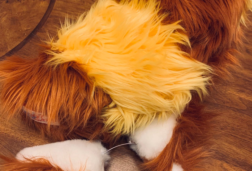 Angry Red Panda Ears and Tail Cosplay Set