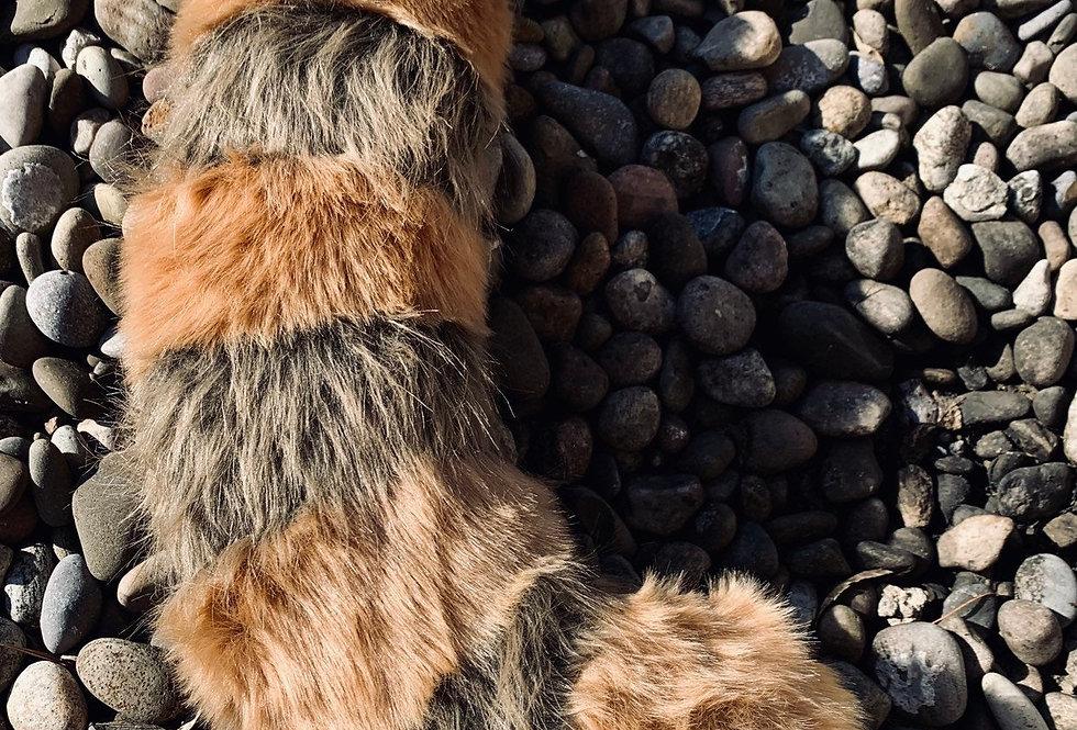 XL Beige ad Brown Red Panda Fursuit Tail