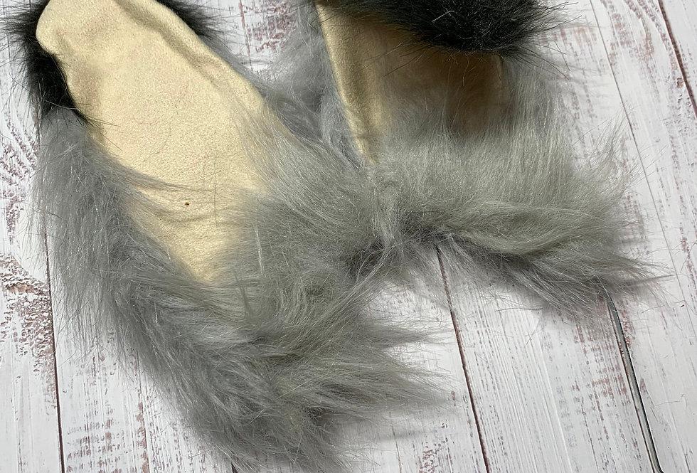 Gray Bunny Rabbit Ears