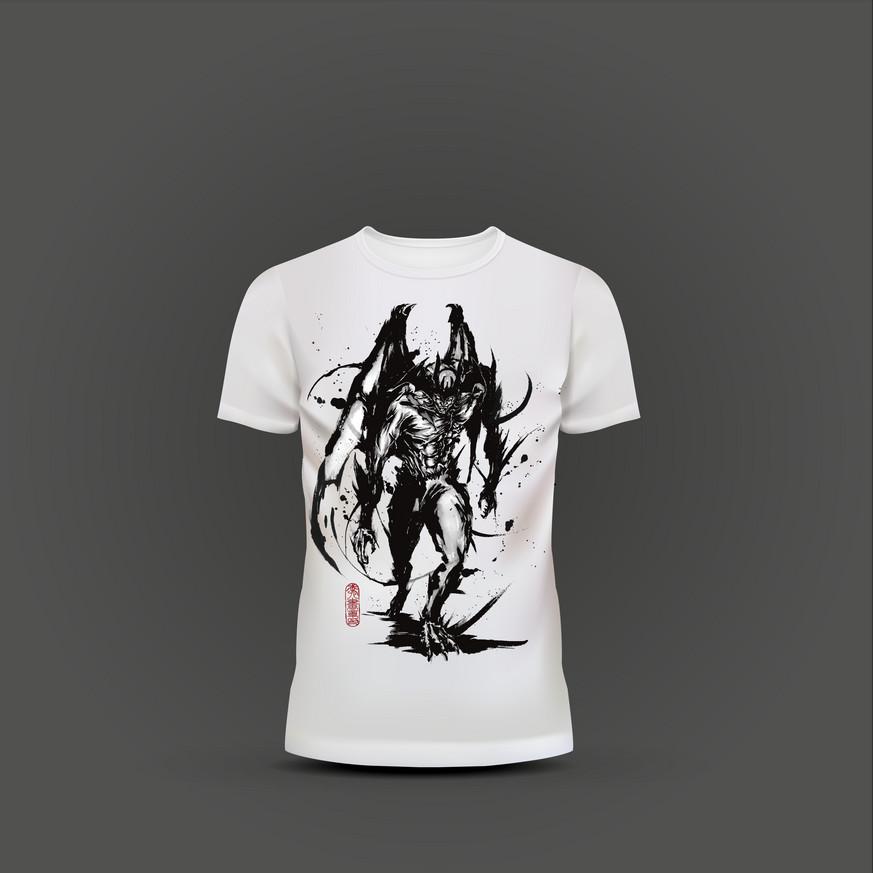 デビルマン_武人画Tシャツ