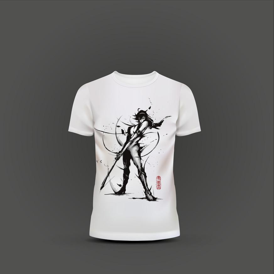 キューティーハニー武人画Tシャツ