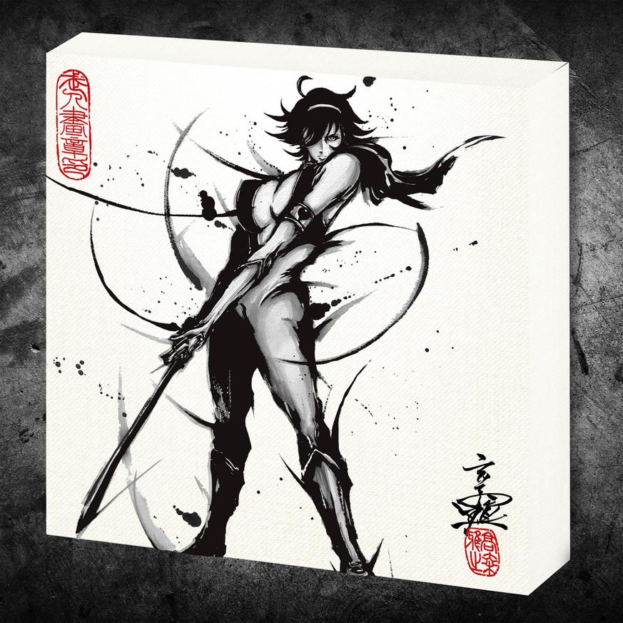 キューティーハニー_武人画ファブリックボード