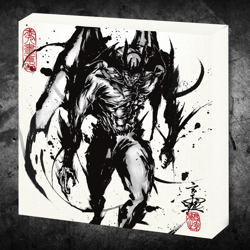 デビルマン_武人画ファブリックボード