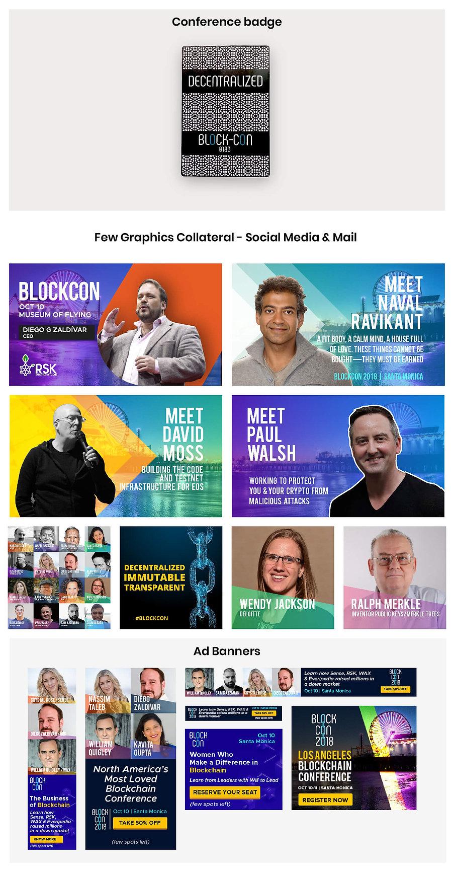 Block Con brandvibe collaterals graphics