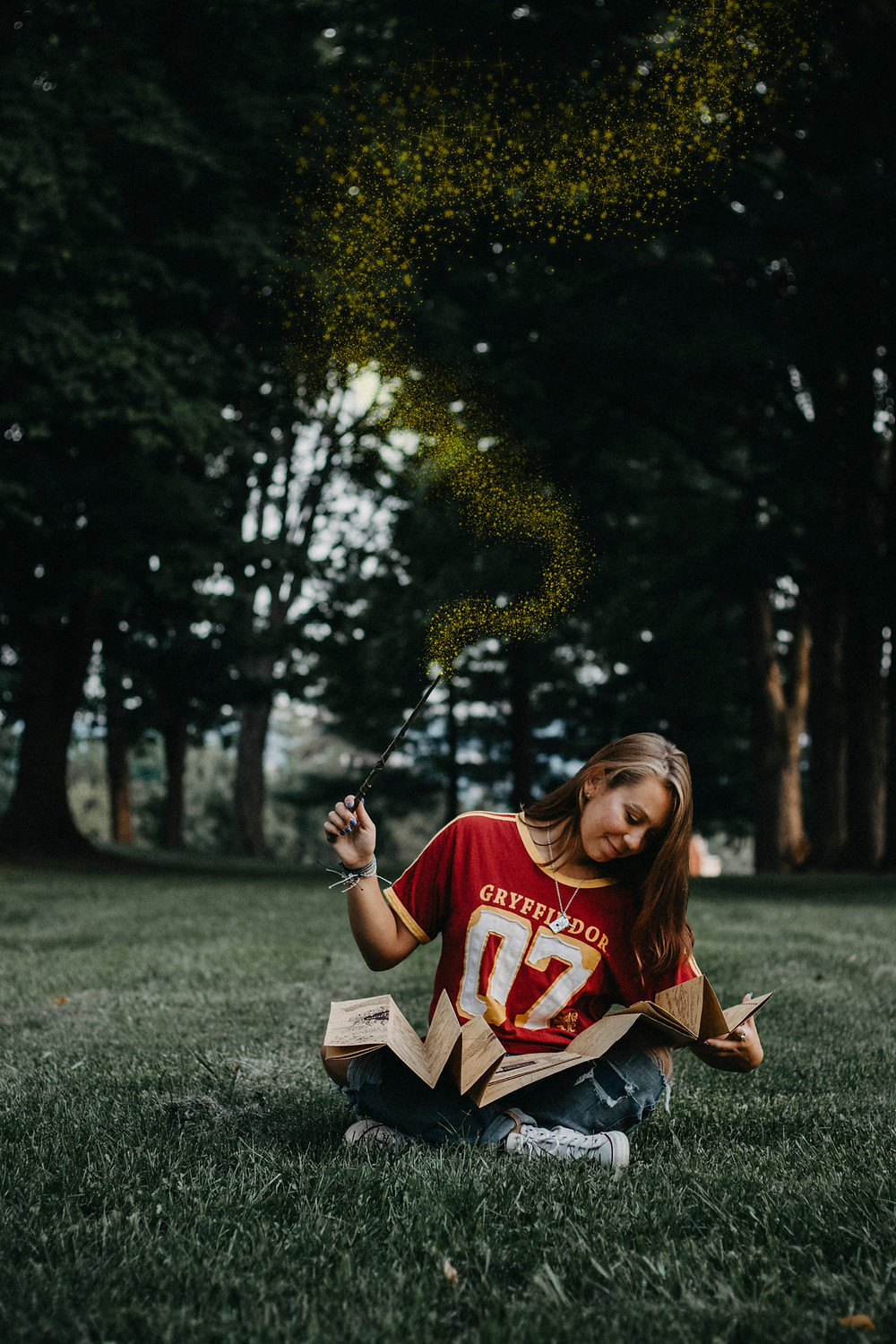 Harry Potter themed High School Senior Photography Session in York, PA by Taylor Slusser Photography