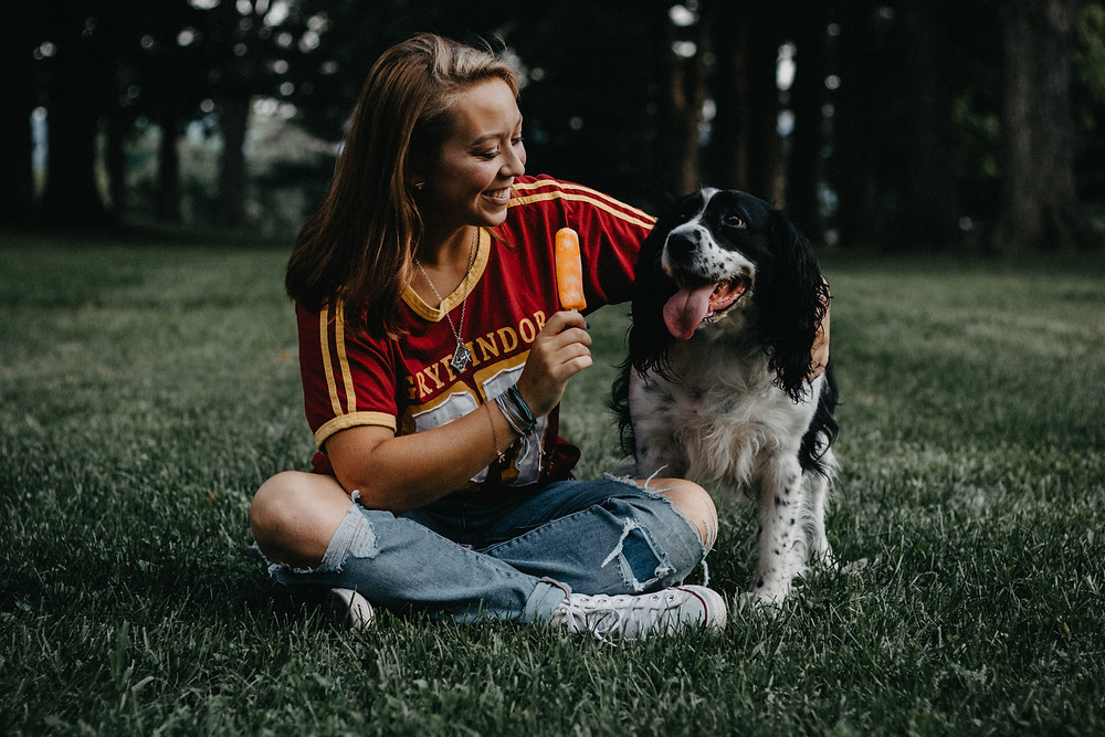 Dog friendly High School Senior Photography Session in York, PA by Taylor Slusser Photography