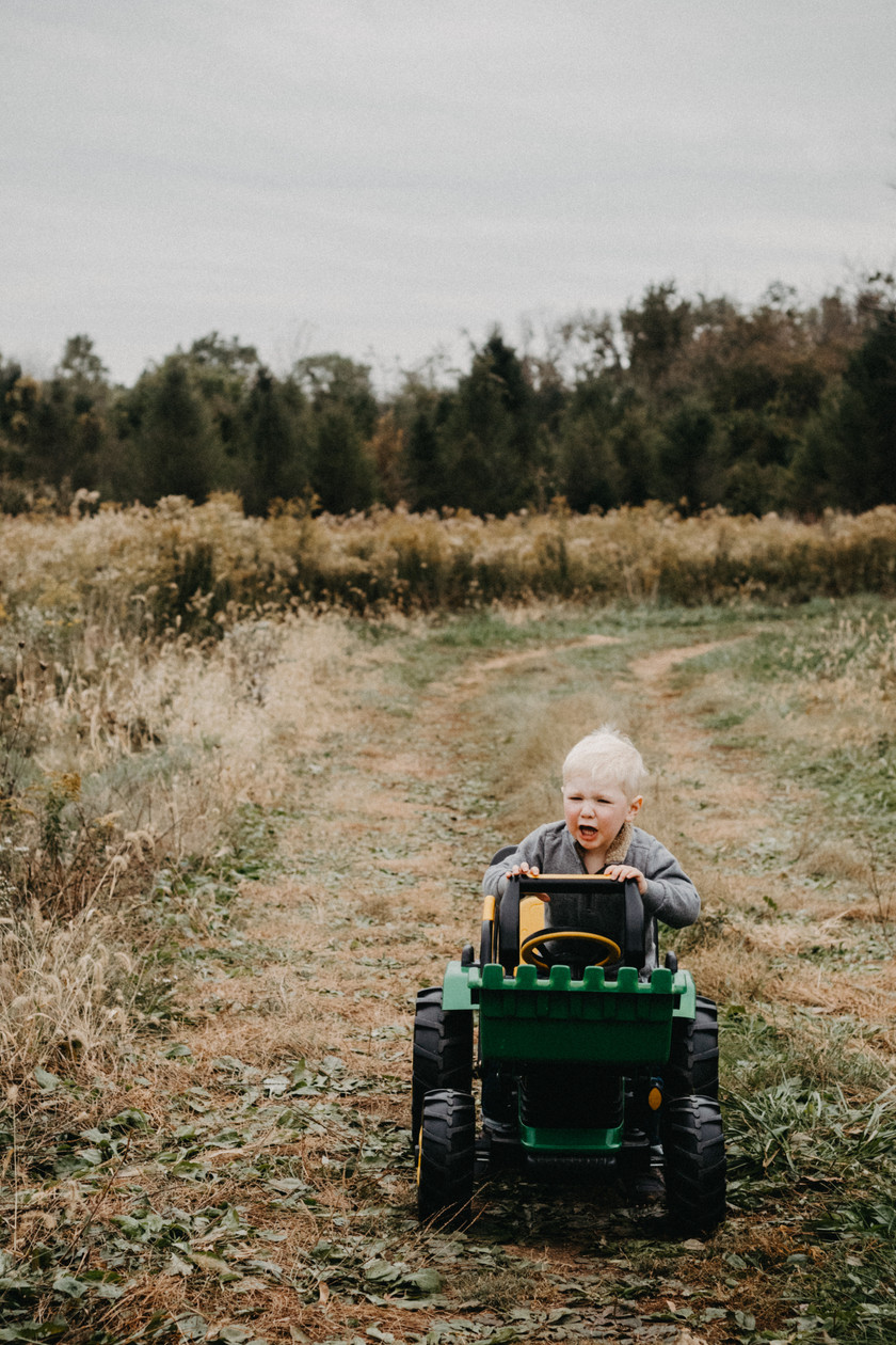 3 year old Family Photography Session with Jase and his tractor in York, PA - Taylor Slusser Photography - Central, PA Family Photographer