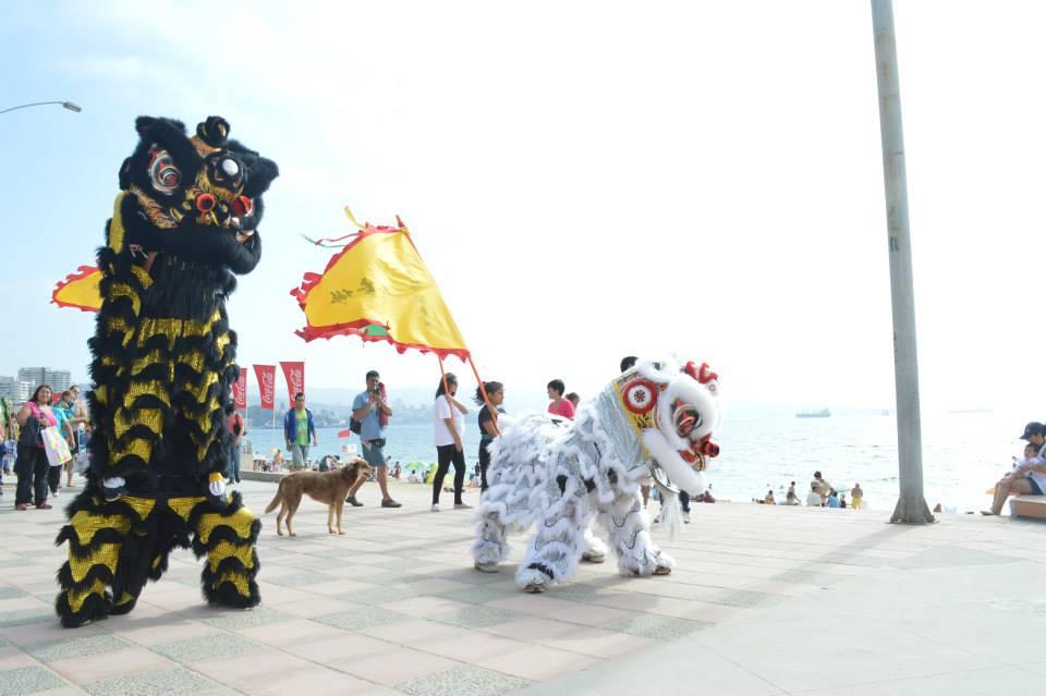 Danza del León en la playa