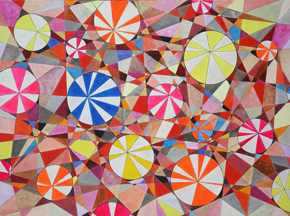 A12-18 Triangulated Circles 48 x 36in -