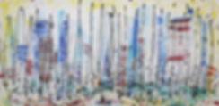 A190-08 June Gloom LA, acrylic on canvas