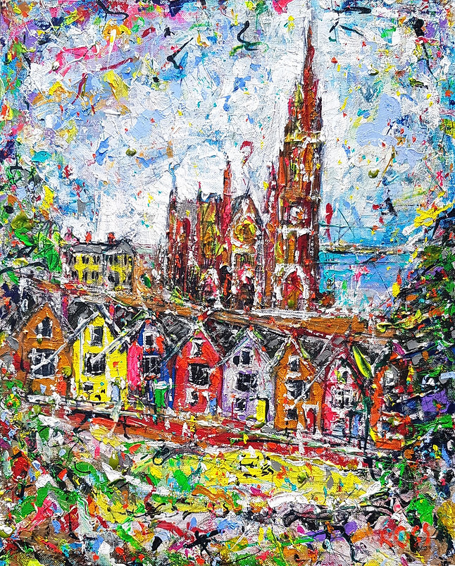 A14-21 Cobh Cathedral 16x20in (51x41cm).
