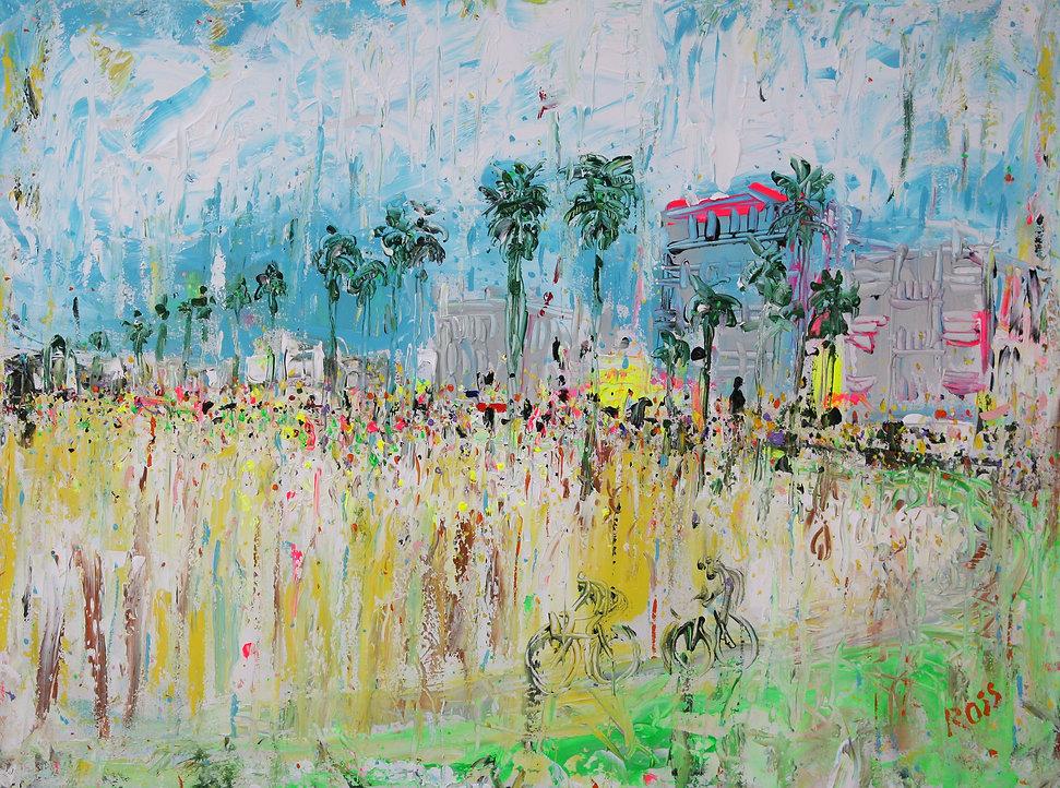 A217-08 Venice Beach, acrylic on canvas,