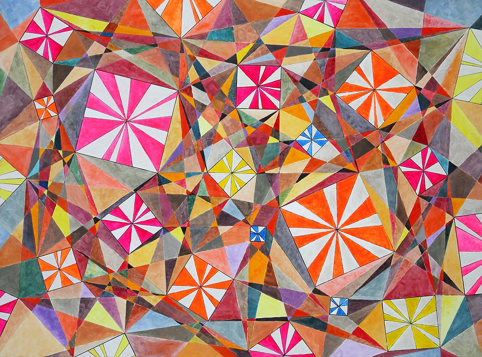 A15-18 Triangulated Squares 48 x 36in -