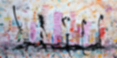 A138.07 Chinatown, acrylic on canvas, si