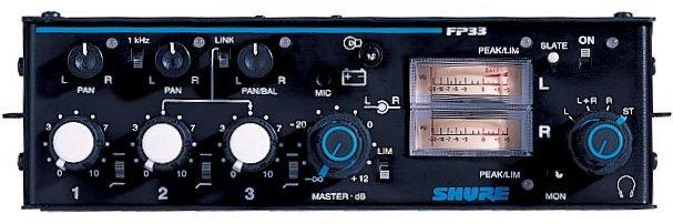 Mezclador de audio portátil Shure FP-33