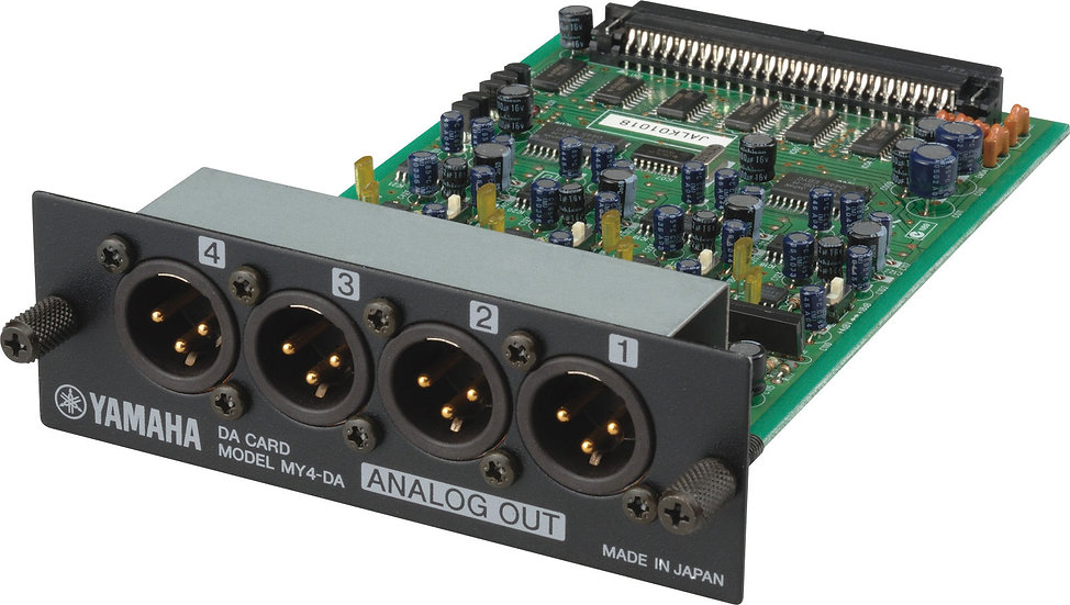 Tarjeta Expansion Mixer Yamaha Salidas Analogicas. Yamaha MY4-DA