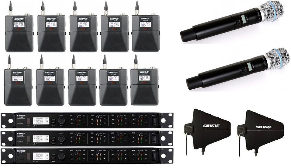 Microfono inalambrico (4ch) Shure ULXD