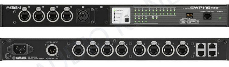 Switch de 16 bocas ethernet - DANTE Yamaha SWP1-16MMF